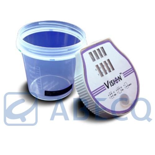 test urinaire de 5 drogues en flacon amp meth coc mor thc abecq ethylotests et tests de drogues. Black Bedroom Furniture Sets. Home Design Ideas